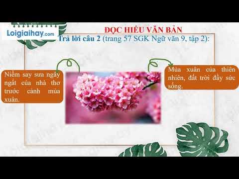 Soạn bài Mùa xuân nho nhỏ trang 55 SGK ngữ văn 9 tập 2