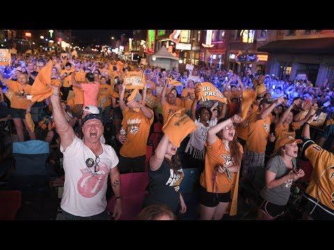 Predators fans watch Stanley Cup final from Broadway watch party