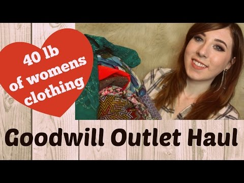 GOODWILL OUTLET THRIFT HAUL  ♡ Women's Clothing