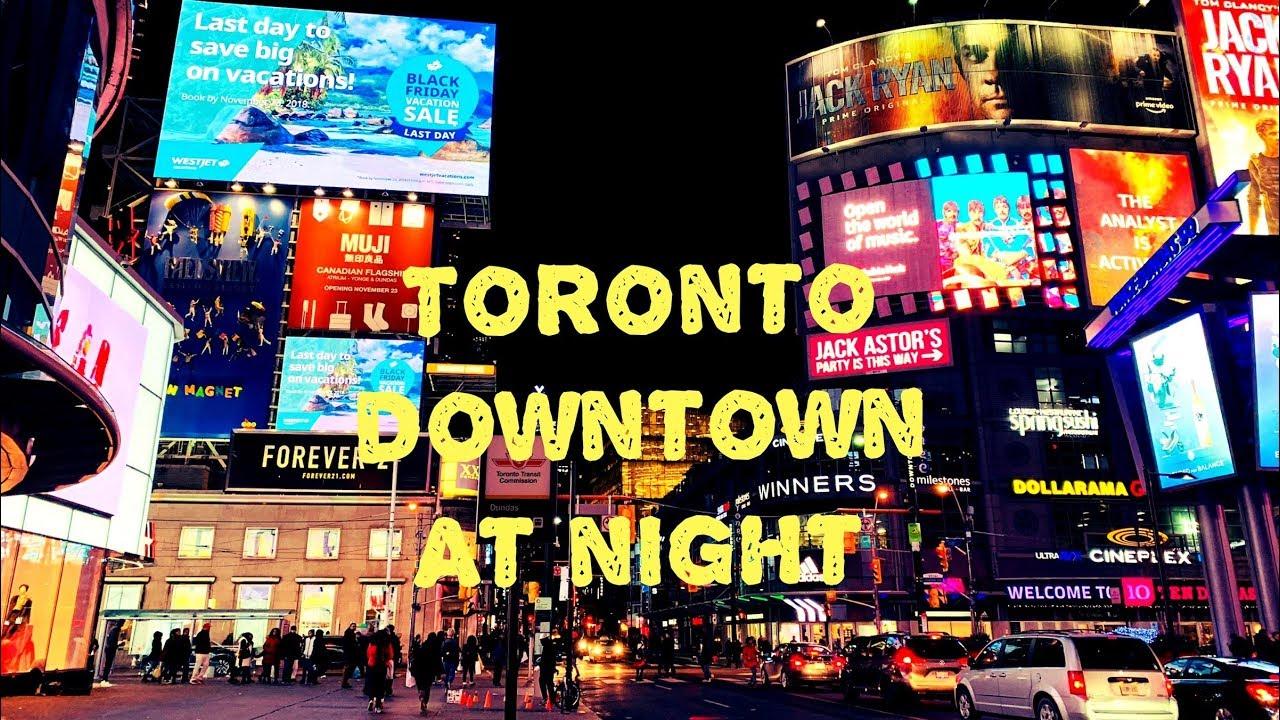 Toronto Downtown At Night 多伦多夜景