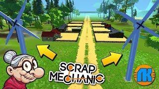В БАБКИНОЙ ДЕРЕВНЕ СТРОЯТ ВЕТРОГЕНЕРАТОРЫ !!! МУЛЬТИК в Scrap Mechanic !!!