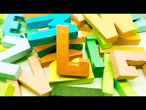 Alphabet Letters Making by Paper | Origami Letter | 3D Letter DIY | 5 Minutes Crafts & Toys