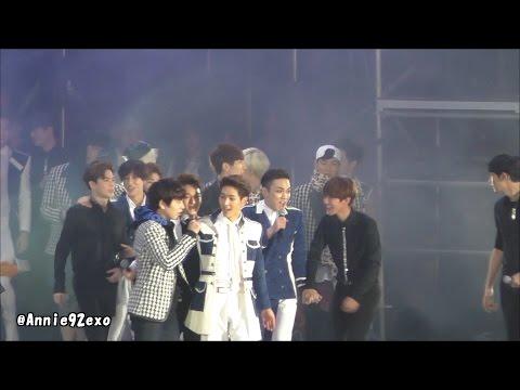 141018 42 ending 엔딩 Hope 빛 EXO Baekhyun Chen Chanyeol D.O. Kyuhyun Key @ SMTOWN in Shanghai 에스엠타운 上海