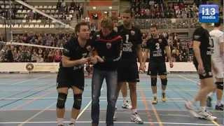 Tilburg STV laat een goed gevulde en sfeervol  T-kwadraat hoop houden op Landstitel volleybal.