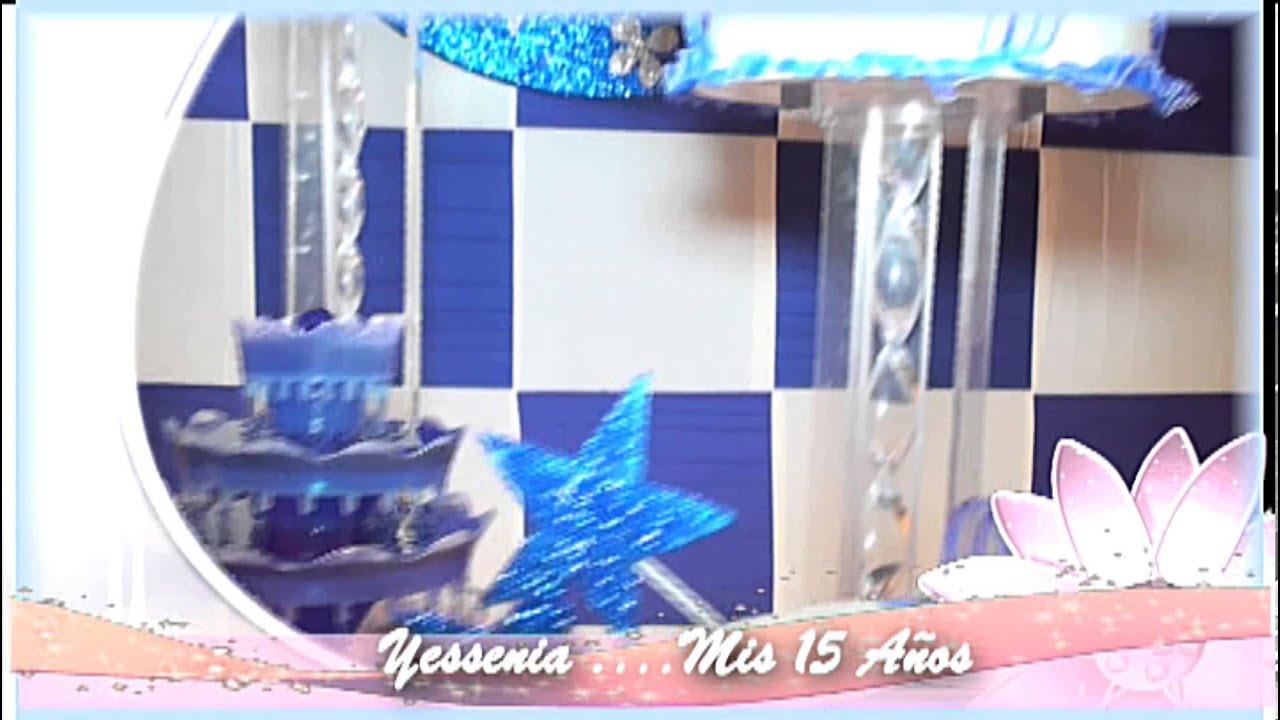 Decoraci n mesa central para 15 a os youtube for Decoracion de pared para 15