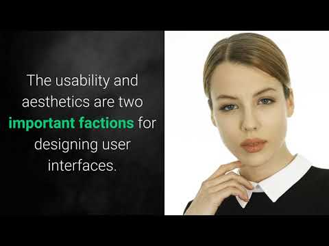 What is AESTHETIC USABILITY EFFECT? What does AESTHETIC USABILITY