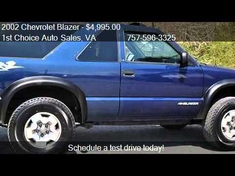 2002 chevrolet blazer zr2 ls for sale in newport news va youtube youtube