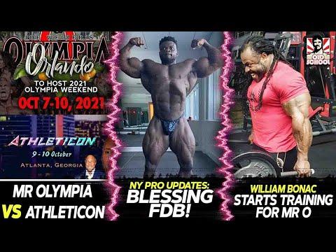 Mr Olympia VS Athleticon! Same Date! + New York Pro Updates + Shawn Rhoden Heavy Leg Day!