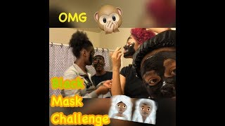 Black Mask Challenge! (She screams) (Very Hilarious)