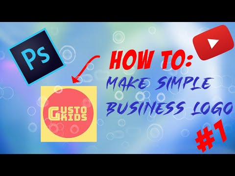 How to Make Simple Business Logo (Photoshop Tutorials #1) *EASY* thumbnail