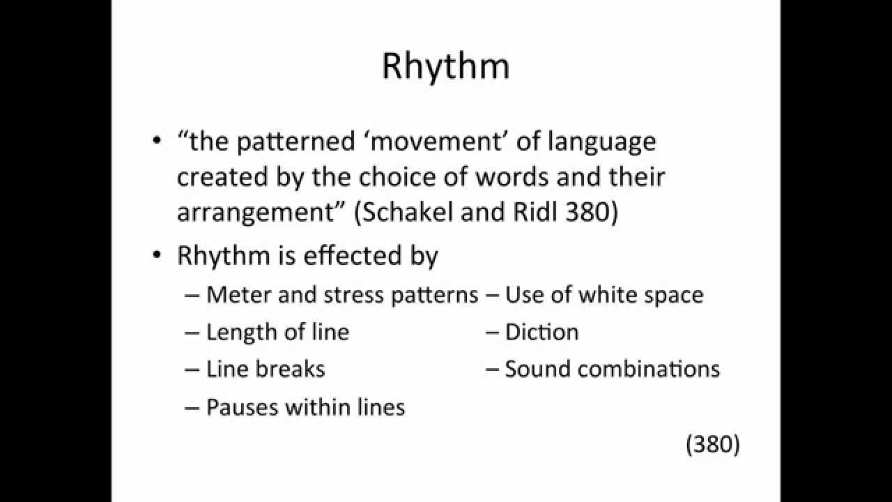 Poetry Writing Lines And Rhythm Youtube