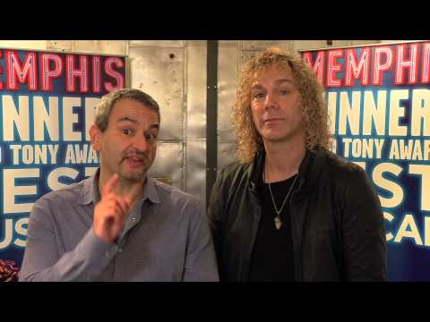 And Now...a Very Special Hello from MEMPHIS' David Bryan and Joe DiPietro