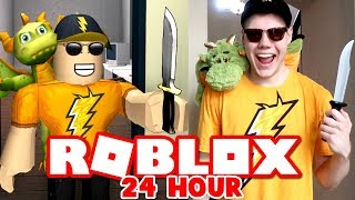 LIVING AS MY ROBLOX AVATAR FOR 24 HOURS CHALLENGE!! (IN REAL LIFE)