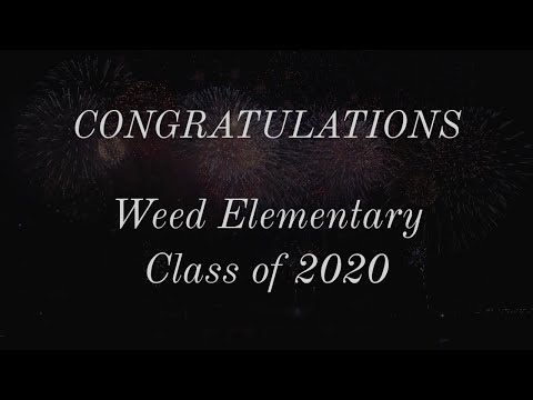 Mister Brown's Messages for Weed Elementary School Class of 2020