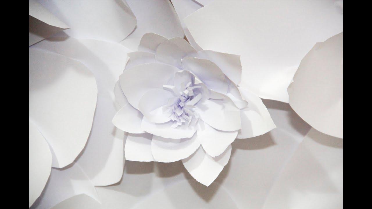 DIY Flores de Papel Para Decorar Parede (Festas, noivado, chás, casamento, 1