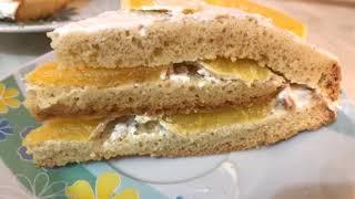 Ленивый торт с апельсинами - ОЧЕНЬ ПРОСТОЙ!