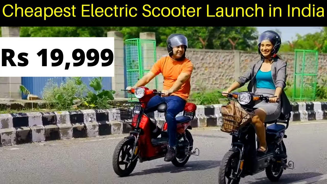Cheapest Electric Scooter Launched in India - Detel EV
