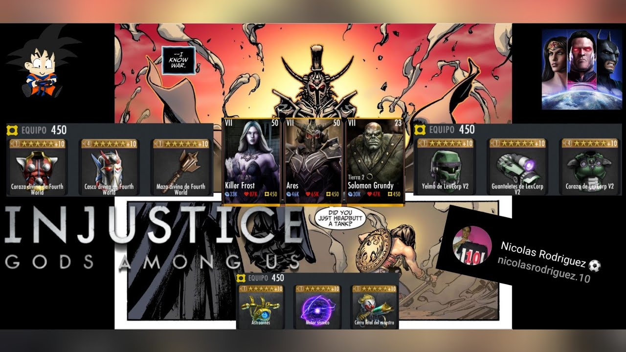 """Injustice Gods Among Us Android Equipo Ares + KillerFrost + Solomon T2 Gracias a """"Nicolas Rodriguez"""""""