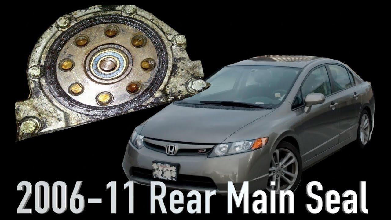 2006 11 Honda Civic Rear Main Seal Replacement Youtube