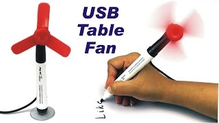 How to Make USB Table Fan using Marker - Easy DIY Table Electric Fan