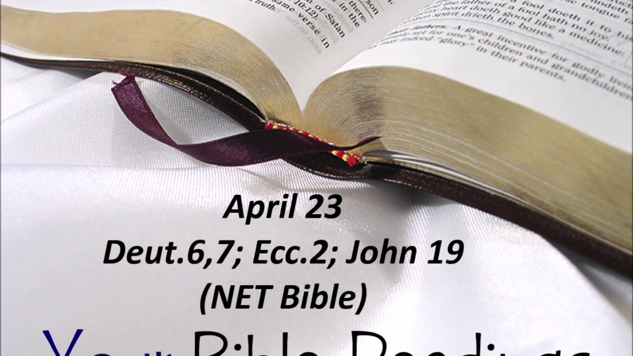 Your Bible Readings for April 23 - YouTube