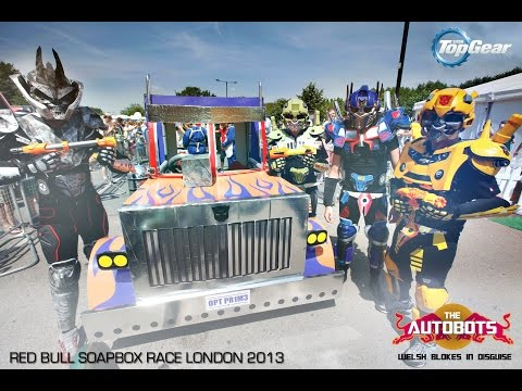 Welsh Blokes in Disguise! DIY Transformers Costume Build! Red Bull Soapbox Race!