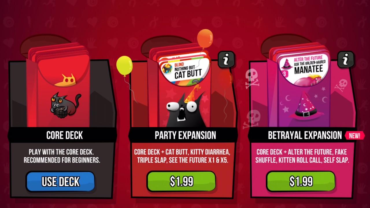 Exploding Kittens Gameplay Trailer Walkthrough Cheats Youtube