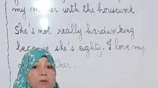 وصف شخص باللغة الإنجليزية