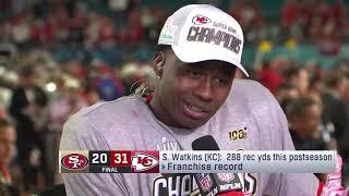Sammy Watkins Reacts to Winning Super Bowl 54 - Chiefs @ 49ers