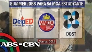 Summer jobs with pay await students