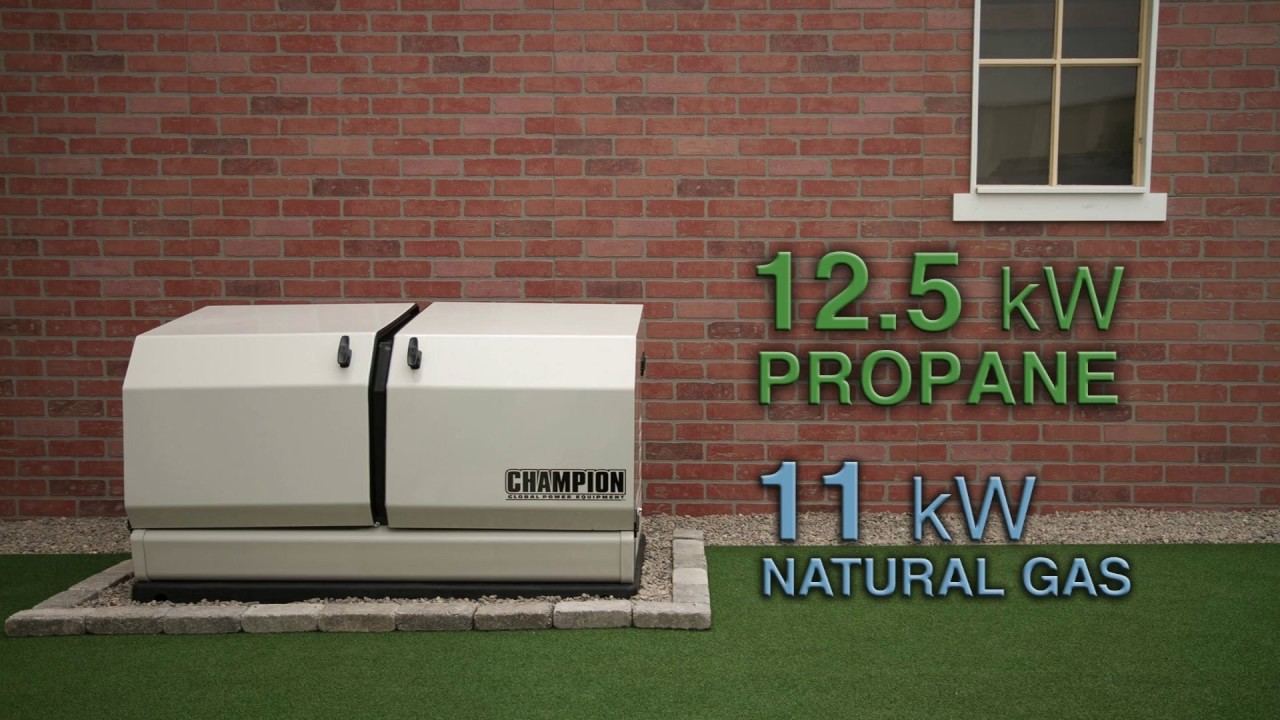 Champion 125 Kw Home Standby Generator Overview Youtube Emergency Generators And Backup Power Installation Equipment