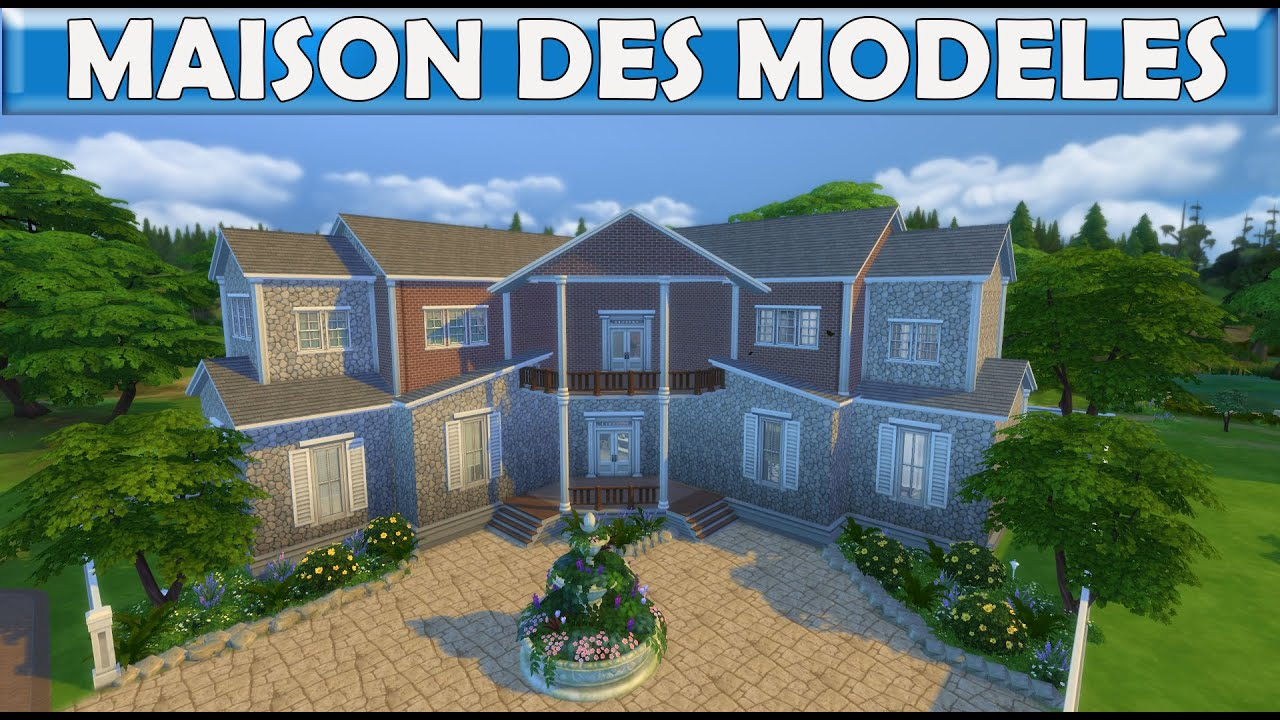 les sims 4 maison des mod les construction speed build youtube. Black Bedroom Furniture Sets. Home Design Ideas