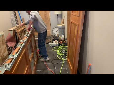 Putting Hinges On The Door With A Hinge Jig