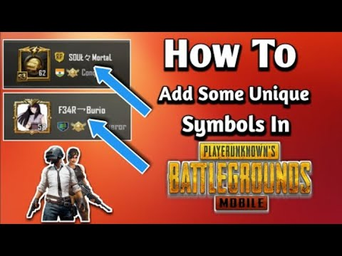 How to add symbols in your name in PUBG emulator  Also applicable for  mobile  Check description