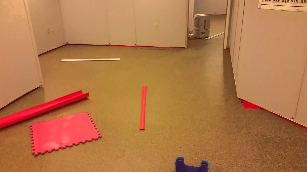 Finishing Up the Rubber Flooring in the Basement