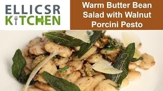 Warm Butter Bean Salad With Walnut Porcini Pesto