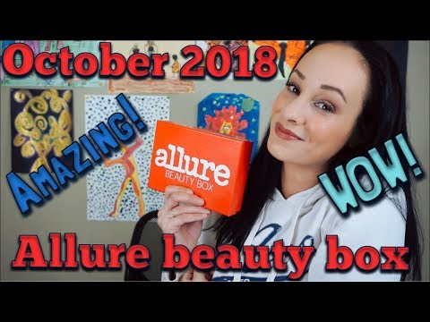 October 2018 Allure Beauty Box... WOW.... you won't believe what is in this box!!