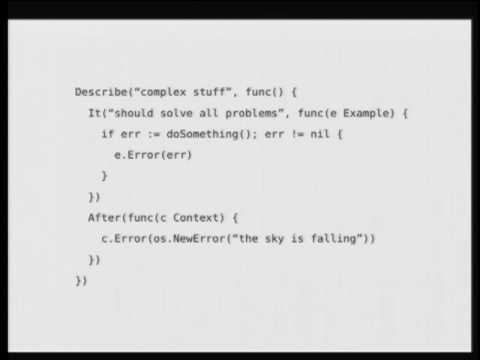 Go Behave! A BDD Framework for the Go Programming Language - YouTube