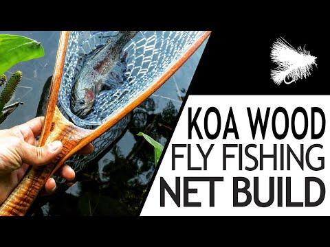 Building A Custom Fly Fishing Net - Koa Wood