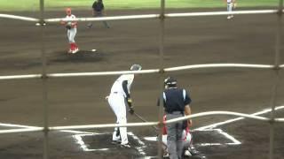 20130529 白根尚貴 ヒット 雁ノ巣ホークス 九州総合スポーツカレッジ戦
