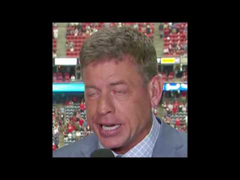 Troy Aikman HE STARTS TO COME AND THEN HE PULLS OUT