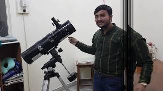Moon and Saturn through Telescope Urdu/Hindi