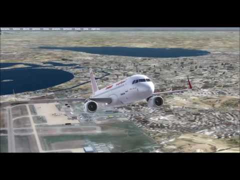 A320 Tunisair Tunis to Monastir (Turbulence)