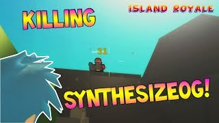 TAKING OUT SYNTHESIZEOG IN ROBLOX FORTNITE [Island Royale ROBLOX]