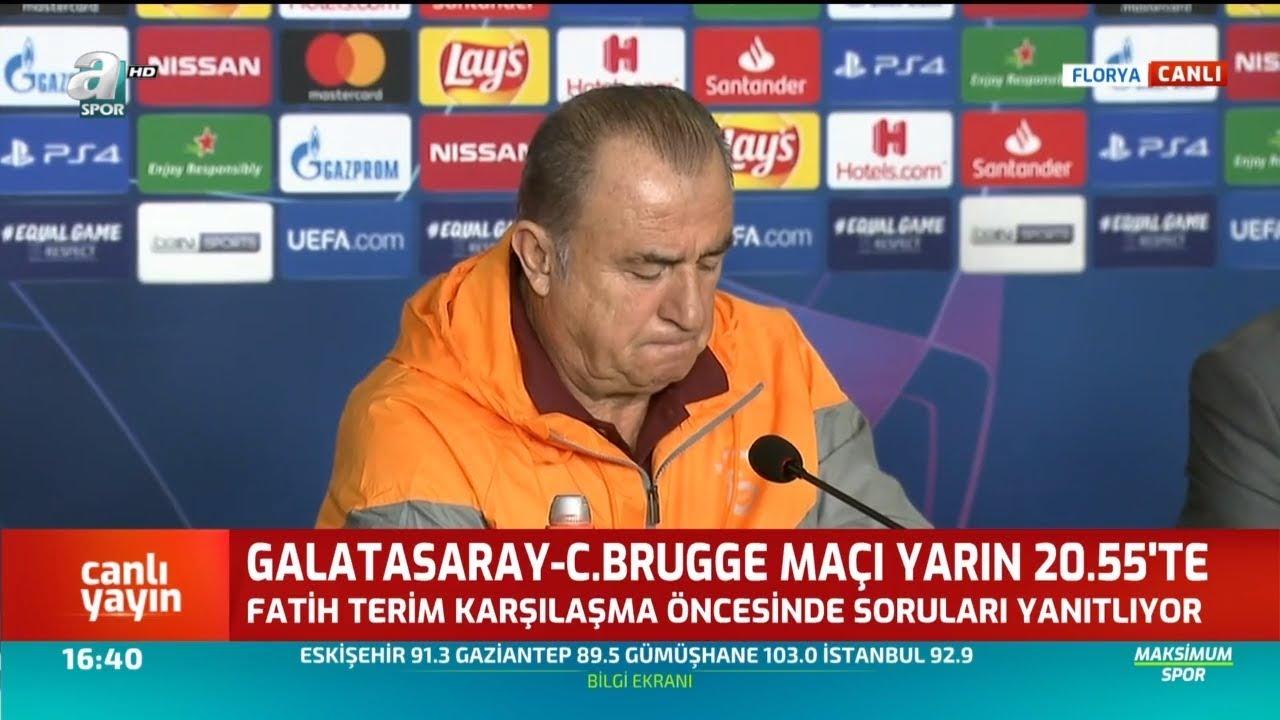 Galatasaray - Club Brugge Fatih Terim Maç Öncesi Basın Toplantısı Düzenledi / A Spor