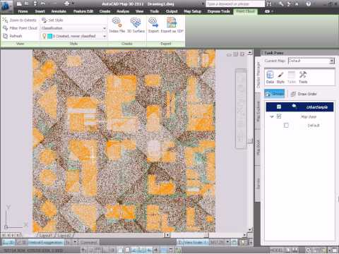 How to Work with LiDAR Point Clouds in AutoCAD Map 3D