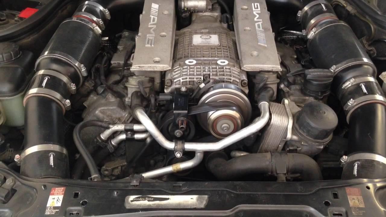 C32 AMG motor mounts bad 2? - YouTube