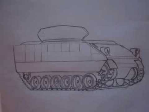 How To Draw Military Vehicles M2 Bradley Youtube