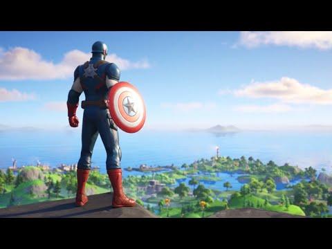Fortnite - Captain America Lands In The Item Shop (Cutscene)