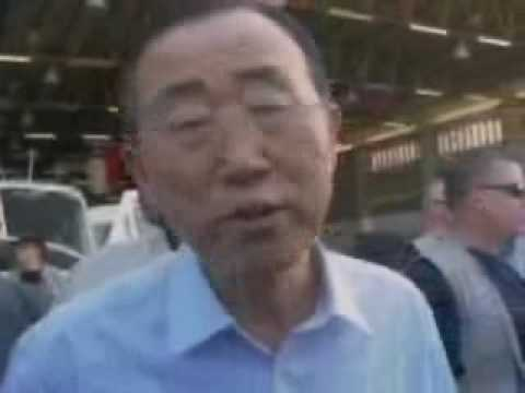Haiti Earthquake: Ban Ki-moon visited MINUSTAH Headquarters